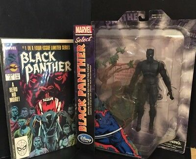 Disney Store Marvel Select BLACK PANTHER Exclusive Action Figure