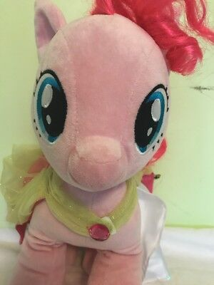 My Little Pony Build A Bear Pinkie Pie With Necklace Cape 15 Inch Plush