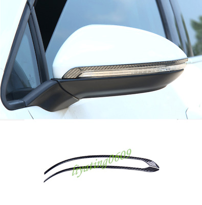 2PCS Carbon Fiber Rearview Mirror Cover Trim Strips For VW Golf 7/7.5 2018