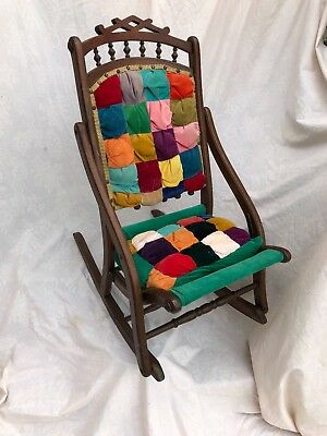"Antique Victorian Folding Rocking Chair -36"" high x 26""- for local pickup only"