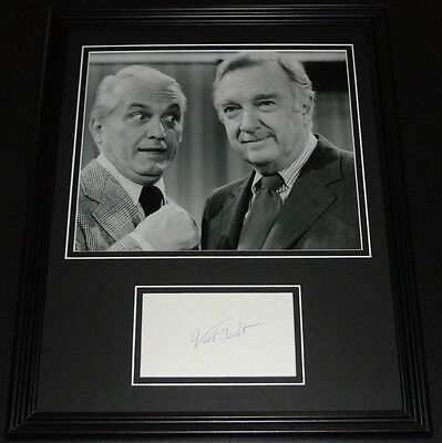 Walter Cronkite Signed Framed 11x14 Photo Display w/ Ted Knight