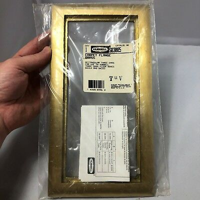 New Hubbell SB3085 Scrubshield Carpet Flange 3 Gang Floor Box B4314 Brass Frame