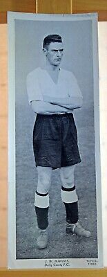 Topical Times large football card 1930s J.W.Bowers Derby County FC