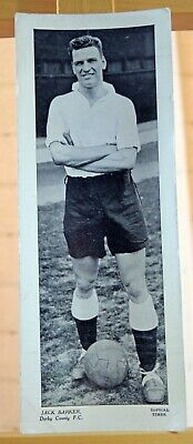 Topical Times large football card 1930s Jack Barker Derby County FC