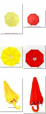 """Ruffle Umbrella Red Or Yellow 18"""" Doll Clothes Accessory For American Girl Dolls"""