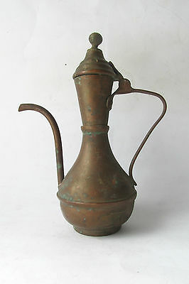 Antique  ISLAMIC Turkish Ottoman  Tinned Copper Ibrik