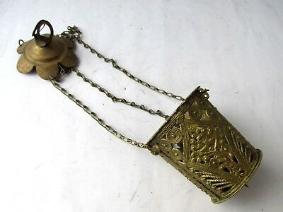 Ancient Antique Hanging bronze Orthodox Lamp Byzantine