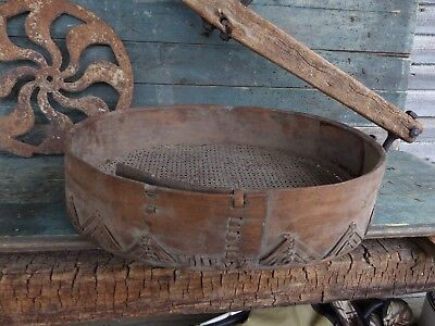 antique primitive rare unusual early 19th c finnish grain shifter shaker aafa