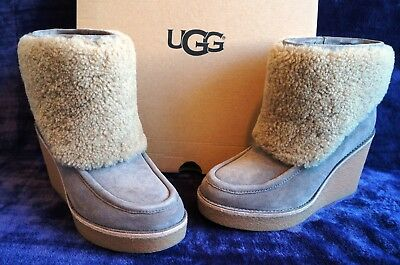 187f35f448e UGG AUSTRALIA COLDIN SUEDE ANKLE BOOTS, US 8.5 Womens, Color: MOUSE ...