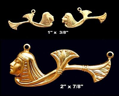 Vintage Brass Stampings Egyptian Revival/ Cleopatra Lotus - Two Styles