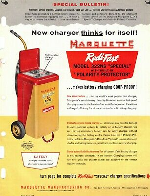 "Vintage Collectible 1950's ""MARQUETTE"" Redi-Fast Model 322NS Jobbers SELL SHEET"