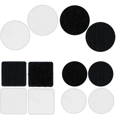 VELCRO SQUARES/DOTS Adhesive Sticky Back Hook Loop Small/Large Light/Heavy Duty