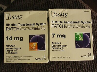 GSMS Nicotine Patch 14mg and 7mg        14 Count