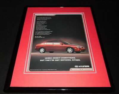 2001 Hyundai Elantra Framed 11x14 ORIGINAL Advertisement