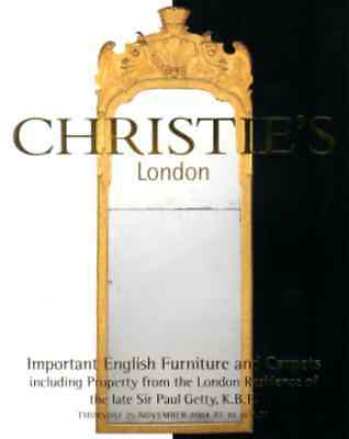 Christie's Paul Getty Important English Furniture Collection