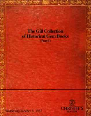 Christie's Historical Gem Books Gill Collection