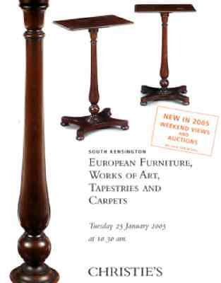 Christie's European Furniture, Works Of Art, Tapestries And Carpets