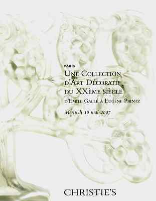 Christie's Une Collection D' Art Decoratif Du Xxeme Siecle  Galle A Printz +
