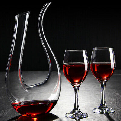 Wine Decanter U Shape Herp Carafe Wine Gifts Lead-free Crystal Wine Accessories
