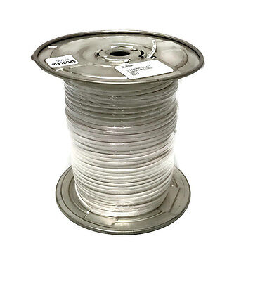 300-752WH Eagle 500' FT 18 AWG GA 2 Conductor Cable Solid Copper Wire White 18/2