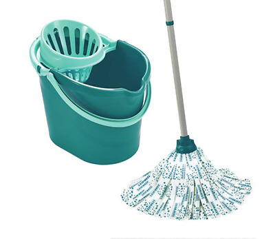 Leifheit Classic Mop and Bucket Set, Turquoise
