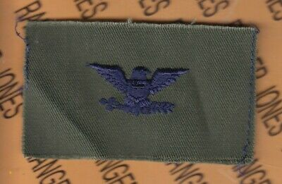 ARMY AUFNÄHER KLETT PATCH COLONEL COL O-6 RANK OLIV SUDUED U.S