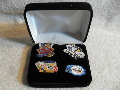 Rare EBAY LIVE Set of 4 Pins Sell It Ship It 2004 thru 2007 Mint In Case
