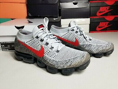 9ae909ffa Nike Air Vapormax Flyknit Men Size 11 Pure Platinum OG Red White 849558-020  2017