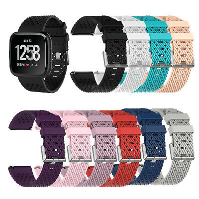 Sport Watch Band Soft Silicone Strap Wristband for Fitbit Versa Replacement