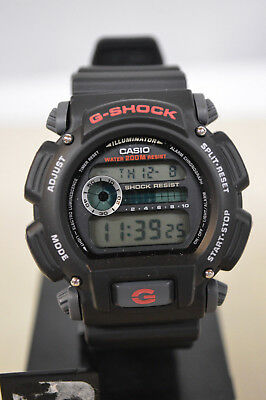 NEW Casio Men's DW9052-1V G-Shock Black Stainless Steel and Resin Digital Watch