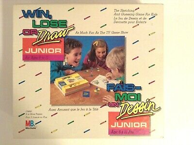 Win Lose or Draw Junior Game   Milton Bradley 1988   Sketch and Guess