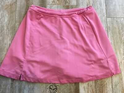 BCG Womens Pink Tennis/Golf Skort Skirt with built In Shorts -sz S