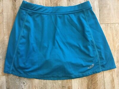 BCG Womens Turquoise Blue Tennis/Golf Skort Skirt with built In Shorts -sz S