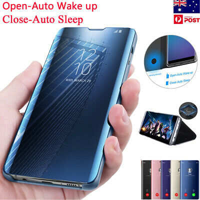 Smart Touch Mirror View Flip Case Cover Samsung Galaxy S8/S9/S10+ Plus Note 9/8