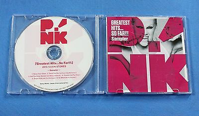 P!NK Greatest Hits...So Far!!! Rare 2010 Japan 6-Track CD PINK