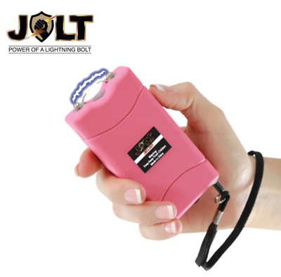 JOLT Rechargeable MINI STUN GUN with Flashlight  - PINK Holster Included