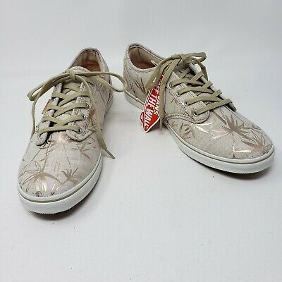 96b4849e2b VANS Atwood Low Tan Gold Botantical Sneakers Shoes Womens Size 8 New