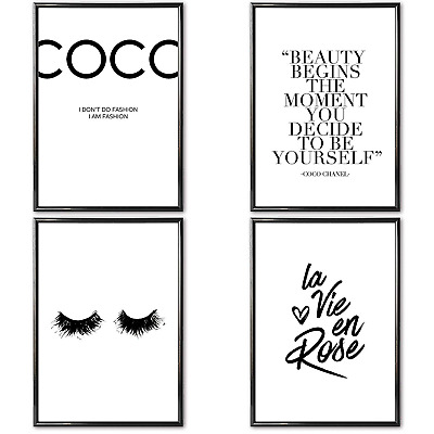 VARIOUS Poster Set of 4 ISO A4 Prints » Coco Chanel « 4 x High Quality Wall 300