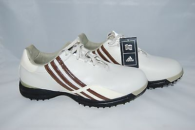 best loved c80bb c435d Adidas W Driver Prima Women Golf Shoes White Brown Stripes Size US 9 NEW