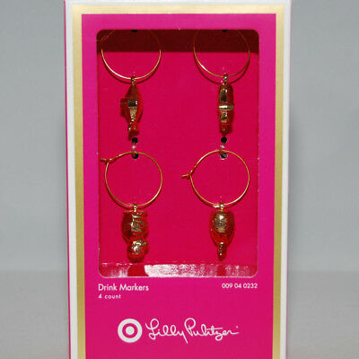2aac7065a8cddd NEW IN BOX Lilly Pulitzer For Target Drink Markers Wine Glass Charms ...