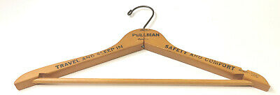 Vintage Advertising Wooden Coat Hanger Pullman Railroad Sleeper Car Train