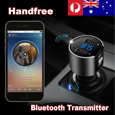 Car FM Transmitter Bluetooth Wireless Radio 2 port USB Charger MP3 Player Kit