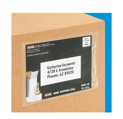 """Clear Packing List sleeve 5.5"""" x 7.5"""" Shipping Mailing Envelope 1000/box"""
