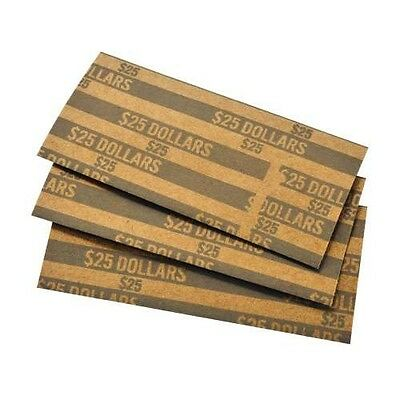 25 COIN WRAPPERS FOR PRESIDENTIAL DOLLARS, SACAGAWEA & SUSAN B. ANTHONY wrapper