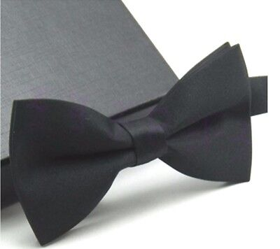Men's Classic Formal Butterfly Pre-tied Black Bow tie Bowtie Wedding Party Prom