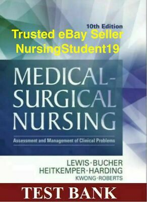 TEST BANK - Lewis Medical-Surgical Nursing 10th Edition (PDF) **FAST DELIVERY**