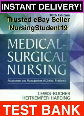 TEST BANK - Lewis Medical-Surgical Nursing 8th Edition (PDF/RTF) *FAST DELIVERY*