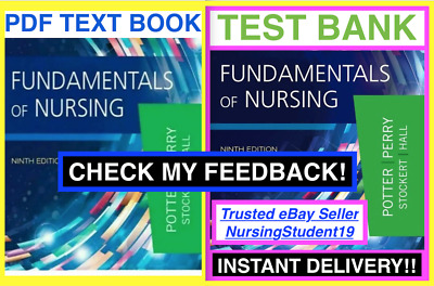 TEST BANK🔥Fundamentals of Nursing Potter🔥9th Ninth Edition Perry🔥+NCLEX BOOK!