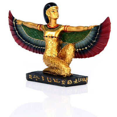 Decorative Gold Egyptian Winged Isis Figurine Ethnographic Ornament