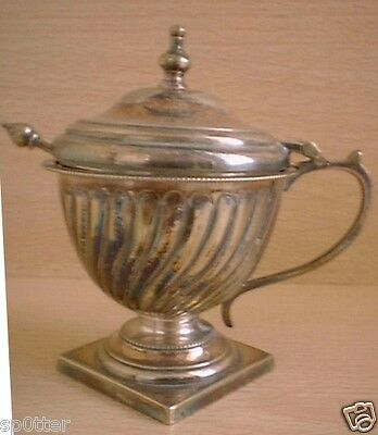 Vintage Antique  Classic Georgian Urn Shaped Tableware Display  Pot +Small Spoon